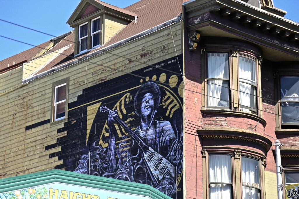 Jimi Hendrix Haight Ashbury San Francisco