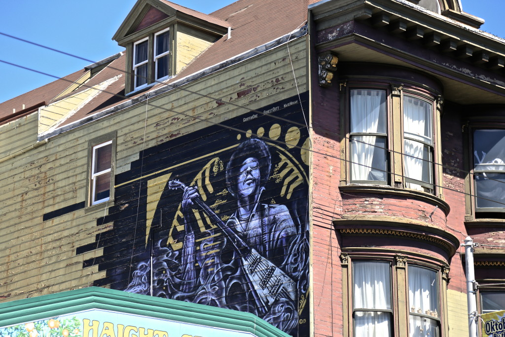 Jimi Hendrix Haight Ashbury San Francisco